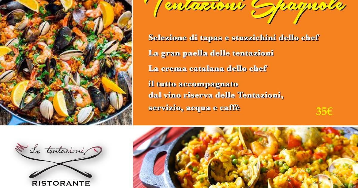 Menu Pesce Tentazioni Spagnole A Base Di Paella Prezzo Speciale