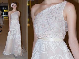 Vestido de noiva com alça única