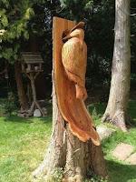 Obras de arte hechas con madera tallada pajaro carpintero