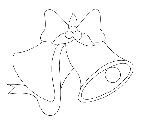 Drawing Coloring For Child Christmas Bell Coloring