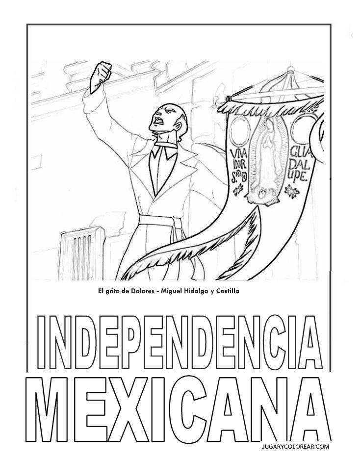 Miguel Hidalgo Colorear Grito De Dolores Mxico