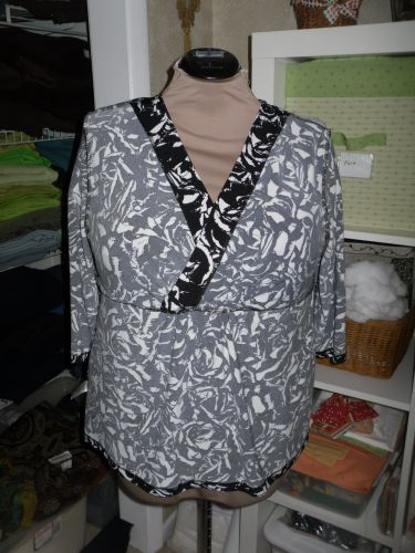 The Back Neckline Has A Self Fabric Turned Down Binding As