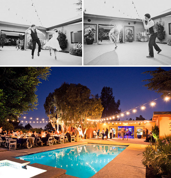 mariage piste danse piscine