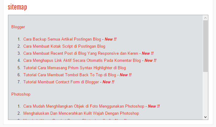 Tutorial Membuat Sitemap Blog SEO