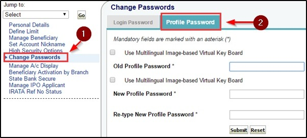 Profile Password Dale