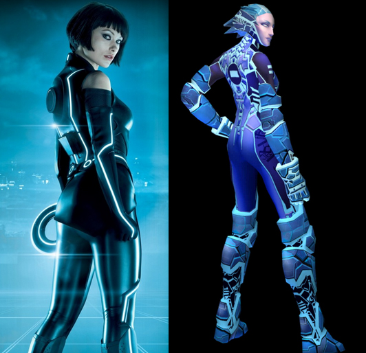 The backside of the love interest (because those were the easiest pictures to find which says a lot) Quorra and Mercury  sc 1 st  Yesterday Tomorrow and Fantasy & Yesterday Tomorrow and Fantasy: TRON: Legacy or TRON 2.0?