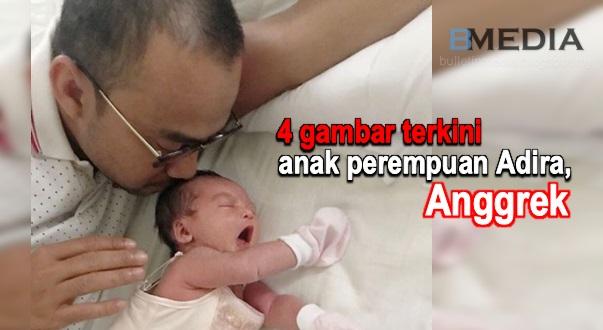 4 gambar terkini anak perempuan Adira, Anggrek