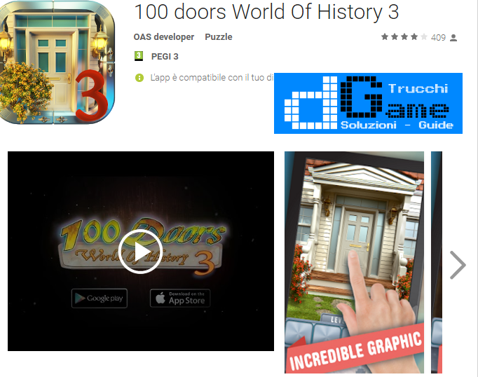 Soluzioni 100 Doors World Of History 3  livello 51 52 53 54 55 56 57 58 59 60 | Trucchi e  Walkthrough level