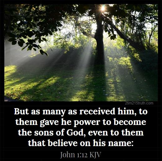 2 Timothy 2:15 Truth: Verse of the Day: John 1:12 KJV