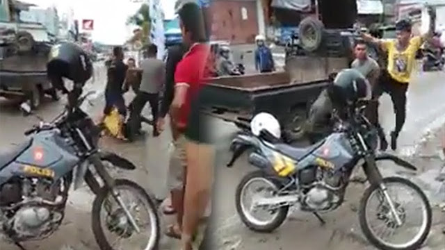 Video Viral, Seorang TNI dan Dua Oknum Polisi Baku Hantam di Nias