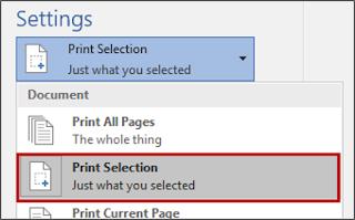 Print Selection,