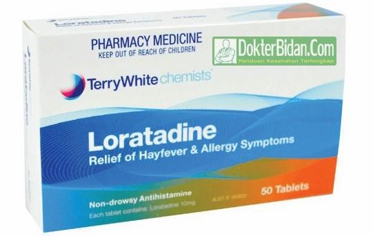 Loratadine Obat Alergi - Info Indikasi, Dosis Aturan Pakai, Manfaat dan Efek Samping