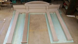 Custom limestone door surround