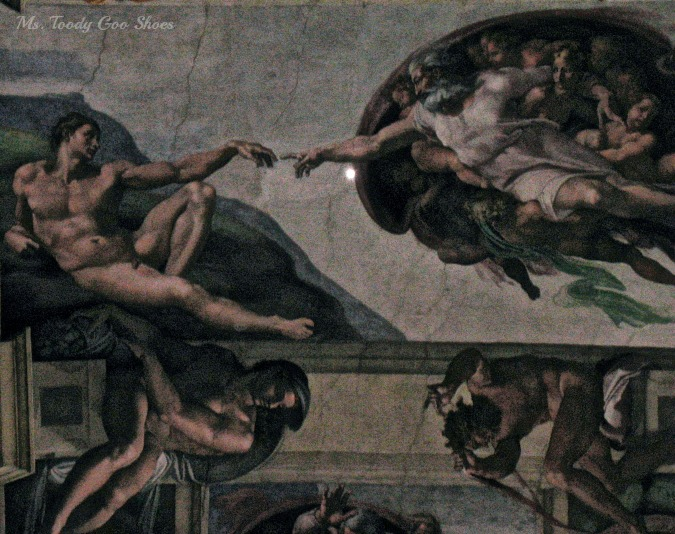 Rome : The Sistine Chapel - Hand of God -- Ms. Toody Goo Shoes
