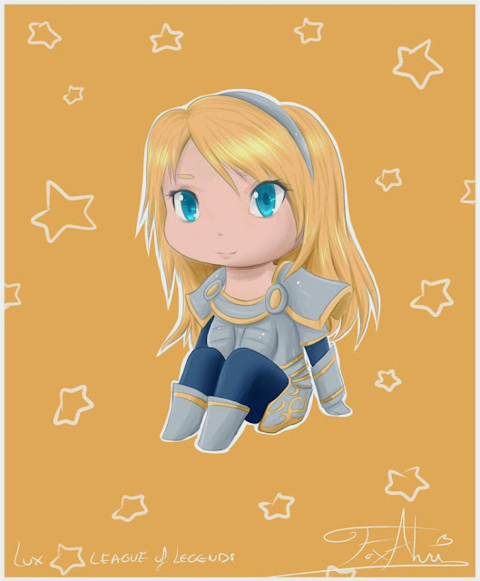 Lux chibi cartoon