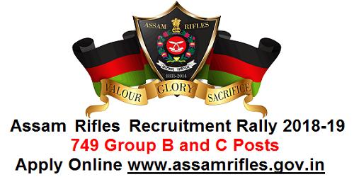 Assam Rifles Recruitment Rally 2018-19