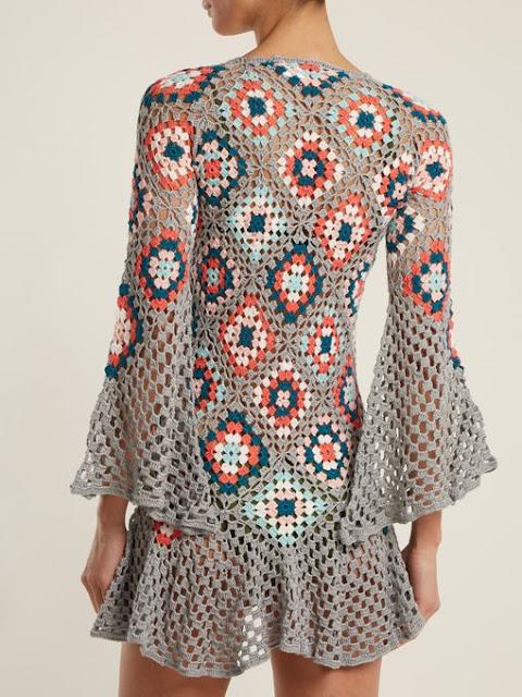 wzory sukienek z kwadratów