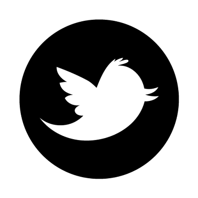 Twitter PNG Picture In Black Color