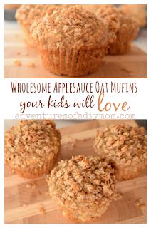 Healthy Applesauce Oat Breakfast Muffins Recipe