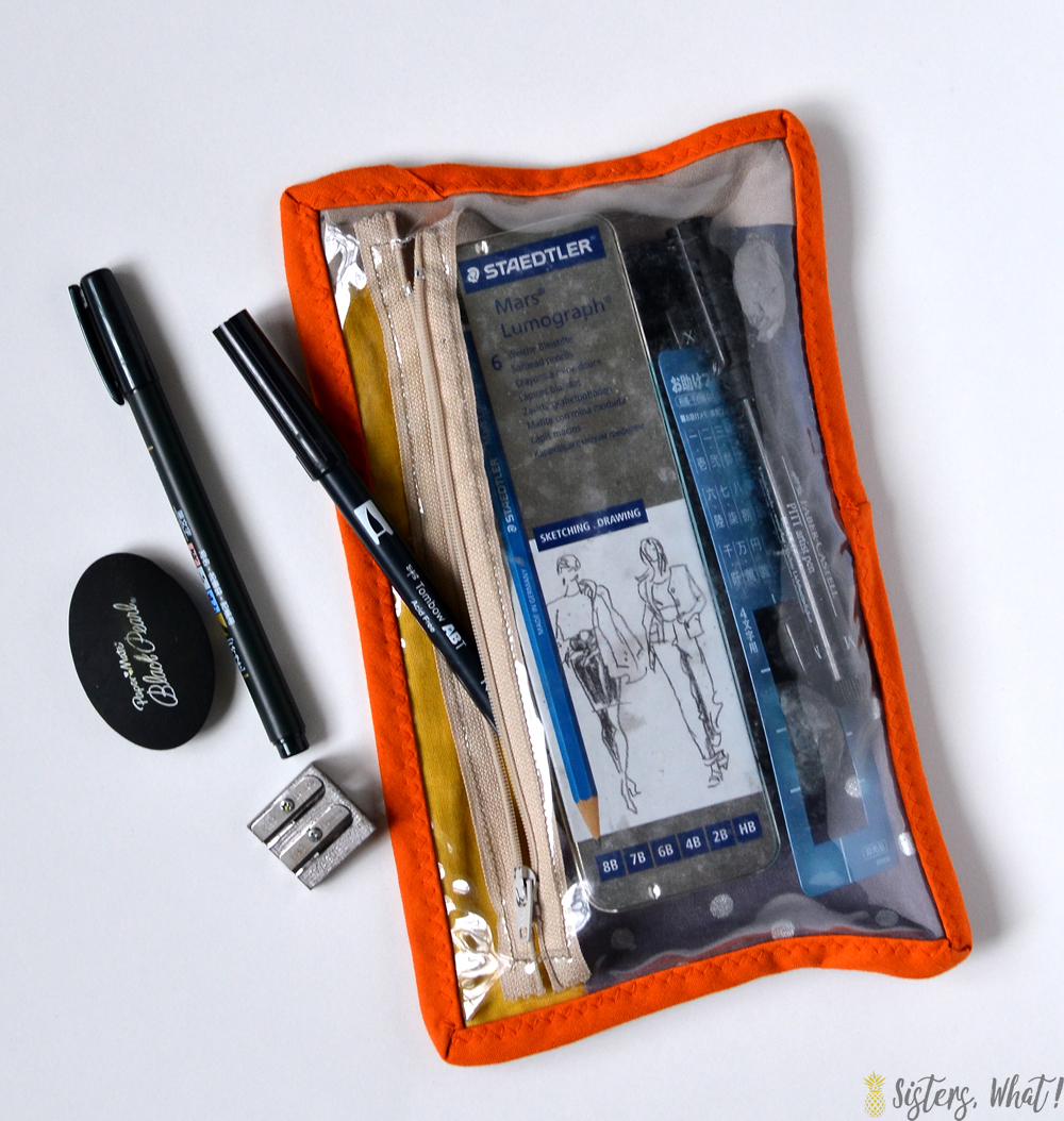 Perfect zipper pouch to hold drawing or pen lettering supplies!