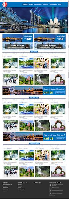 Thiết kế website du lịch | Dịch vụ thiết kế website