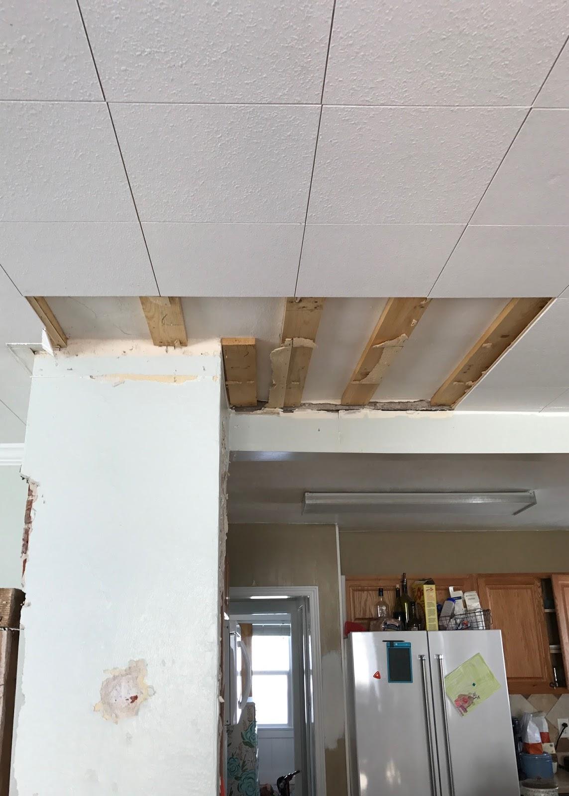 Farmhouse ceiling removing ceiling tiles averie lane farmhouse ceiling removing ceiling tiles doublecrazyfo Images