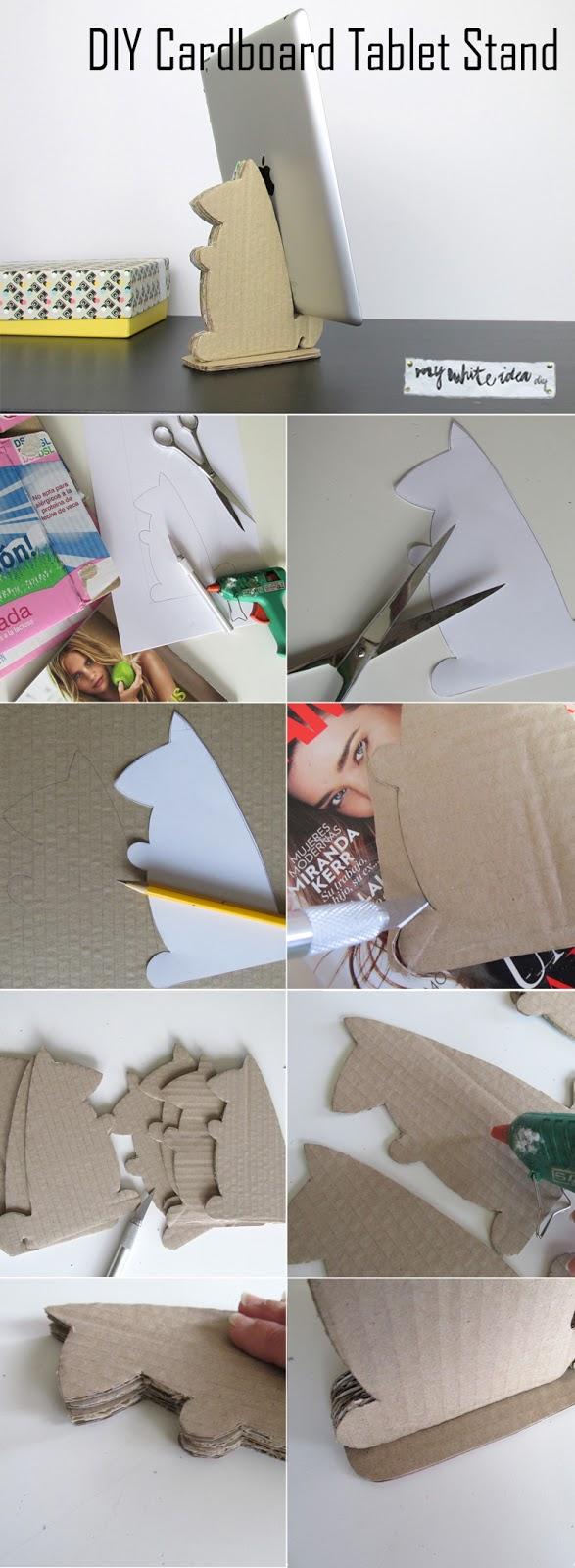DIY Cardboard Tablet Stand | MY WHITE IDEA DIY