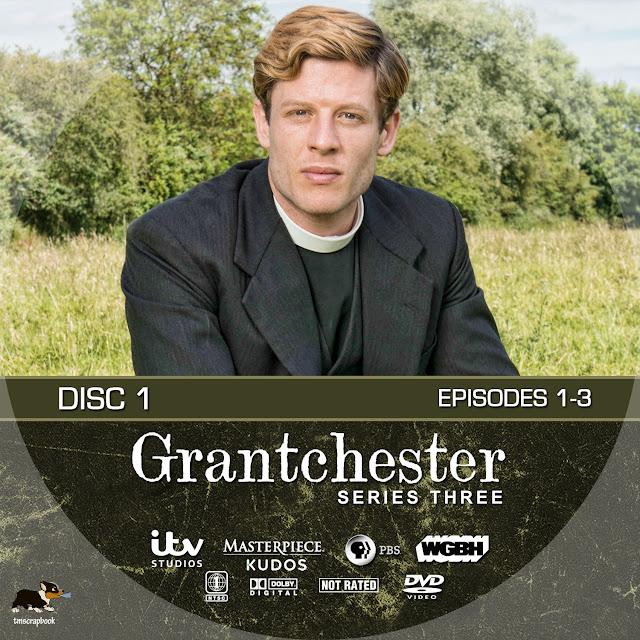 Grantchester Season 3 Disc 1 DVD Label