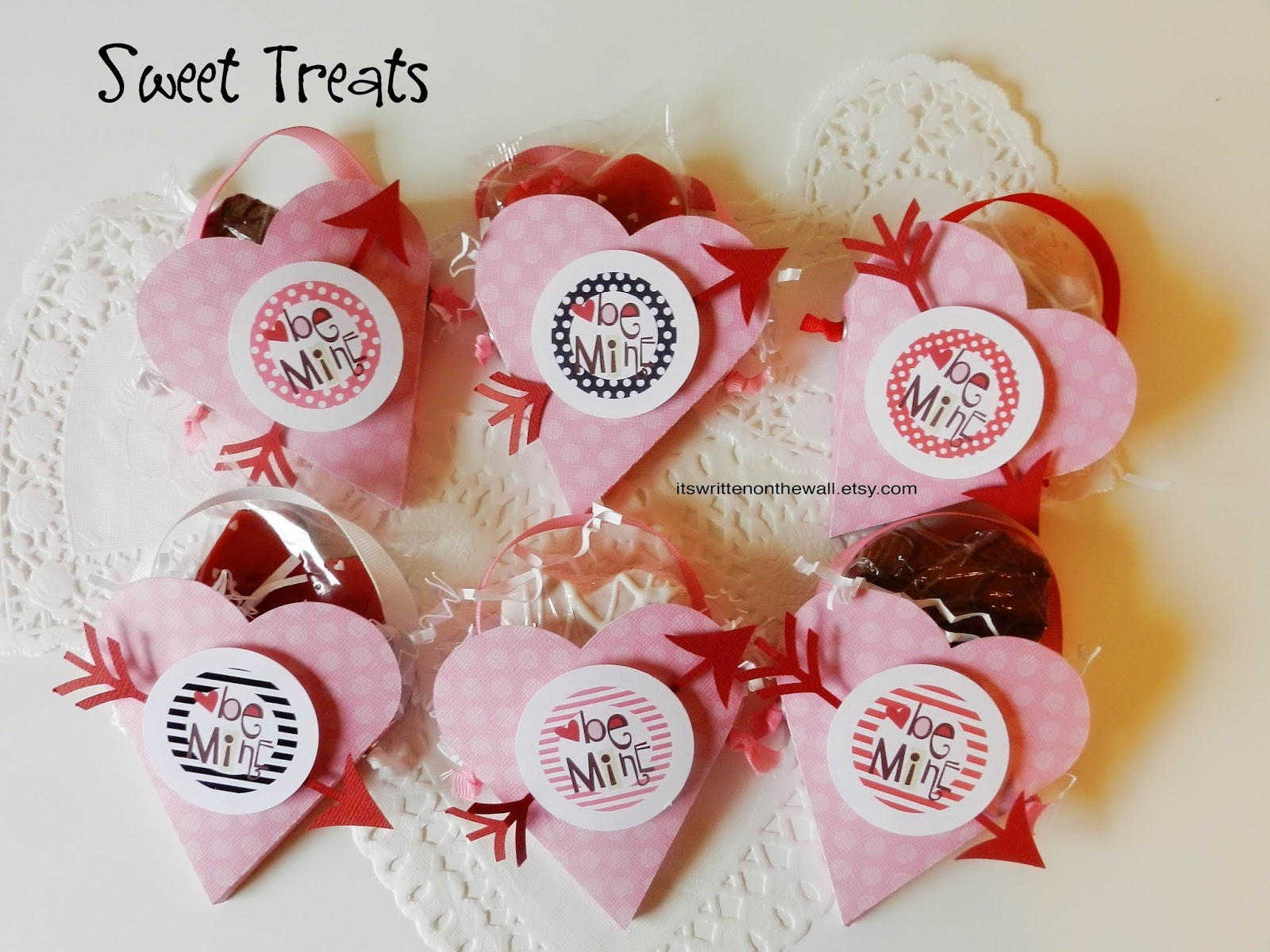valentines day heart treat boxes classroom treat teacher appreciation party favor