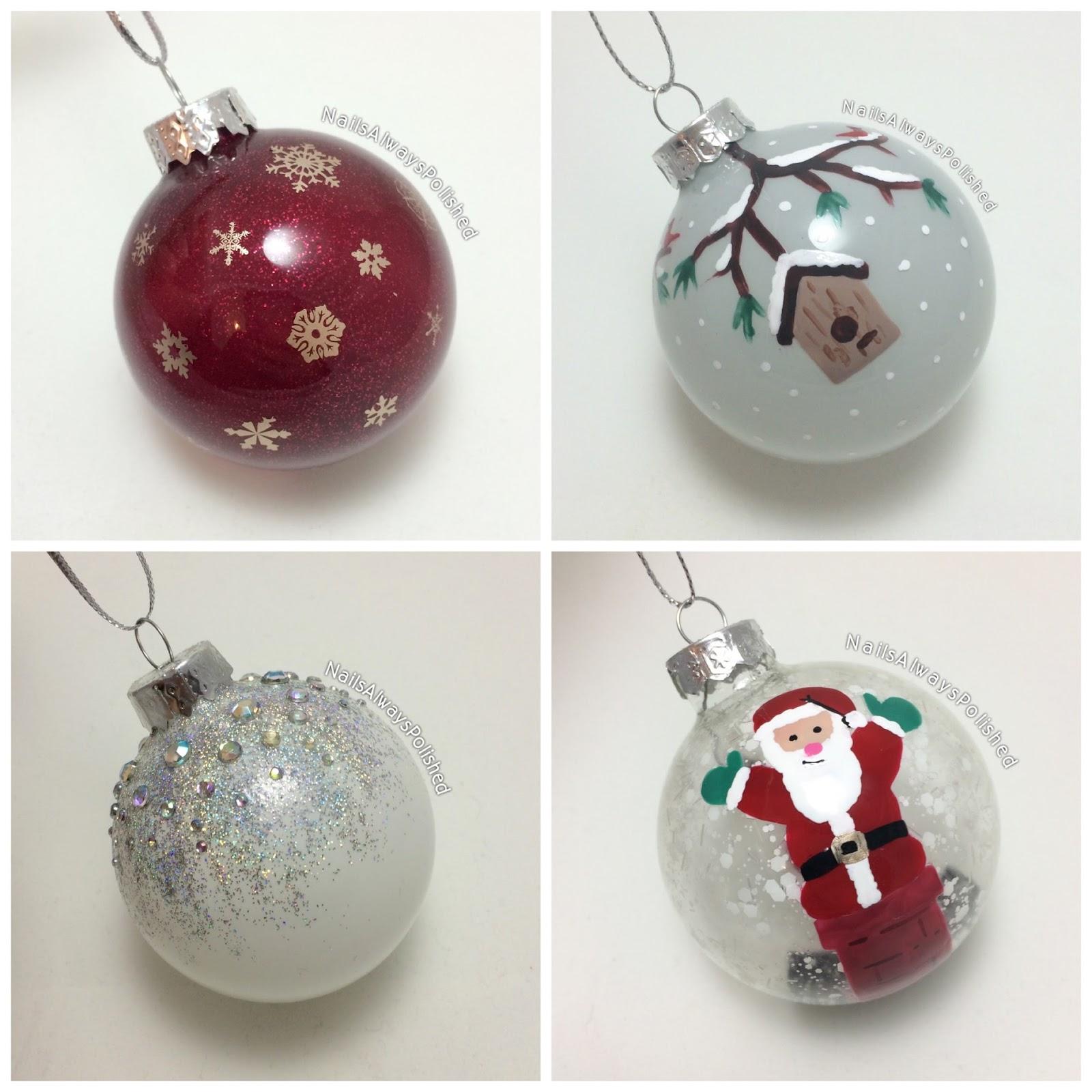 Christmas Ornaments Nail Polish : Nails always polished christmas ornaments