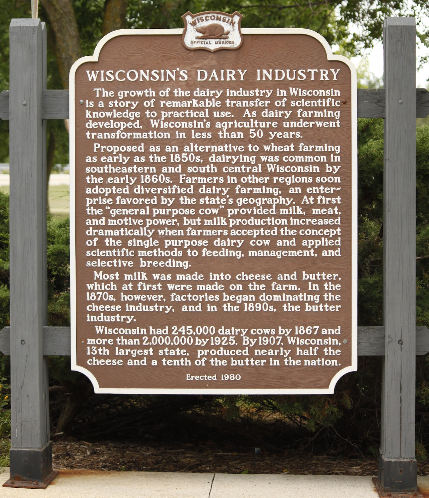Wisconsin Historical Markers: Marker 263: Wisconsin's ...
