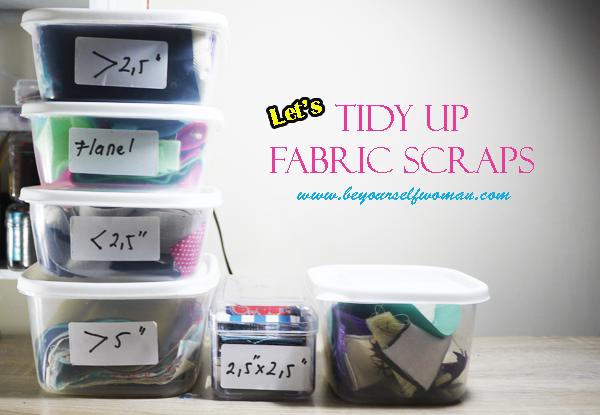 organizing fabric scarps