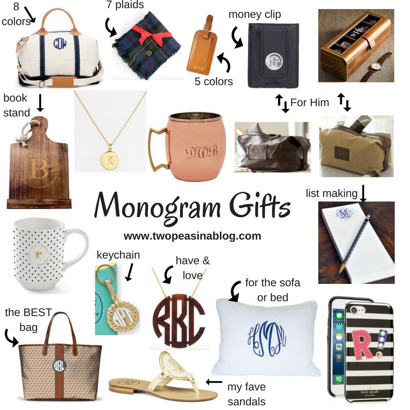 Monday Inspiration Monograms Gift Guide