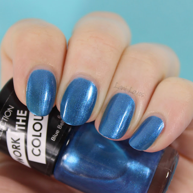 Collection Work the Colour Nail Polish - Blue Belle swatches & review