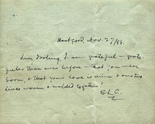 Mark Twain's Letter to His Wife - November 22, 1888