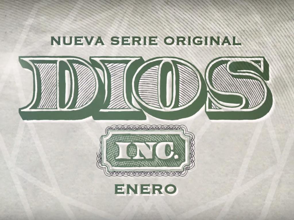 Póster promocional de Dios Inc.