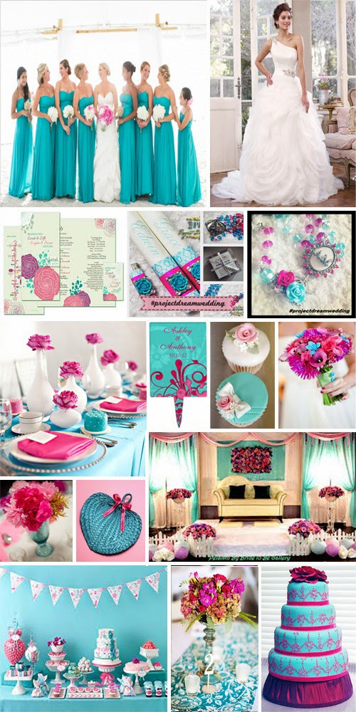 Because Turquoise Is A Great Equalizer To Rather Bold And Sometimes Overdone Pink Wedding Color It Fabulous Combination For Garden
