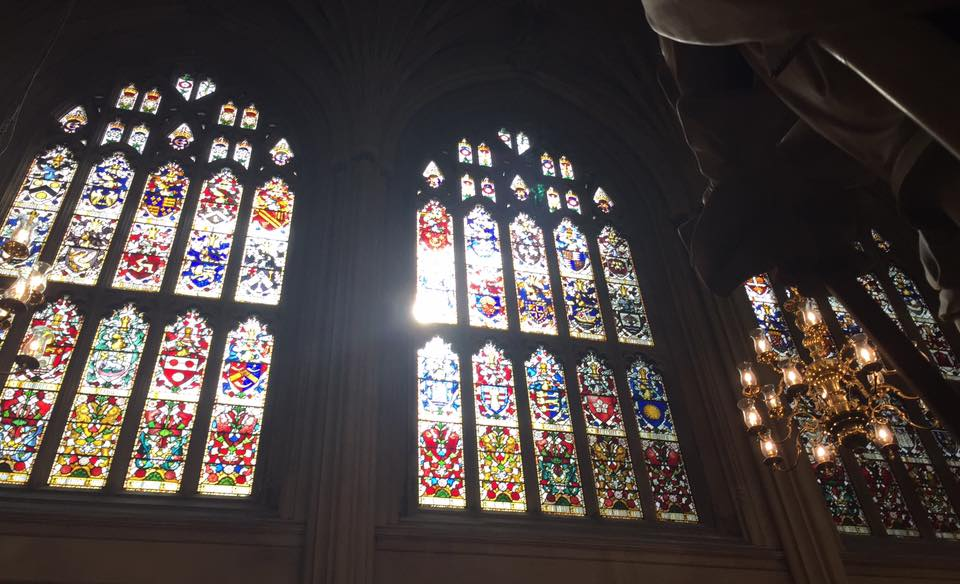 The Houses of Parliament Audio Tour for kids, A Review - St Stephen's Hall stained glass window