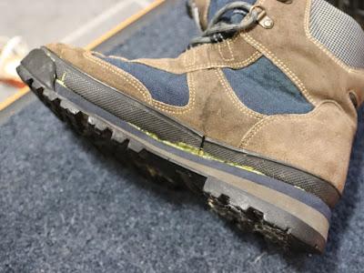 セメダイン速乾Gの色は黄色 ゴアテックスシューズのソール剥がれ修理