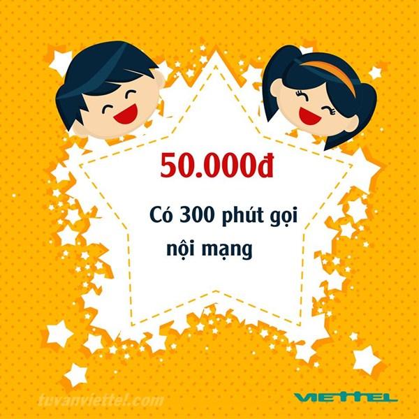Đăng ký gói cước N50 Viettel