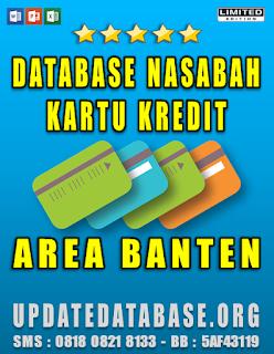 Jual Database Nasabah Kartu Kredit Banten