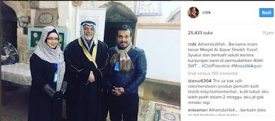 Siti Nurhaliza jumpa Imam Besar Masjid Al-Aqsa