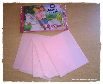 Knabberpapier/ Esspapier Bibi & Tina Erdbeer-Geschmack