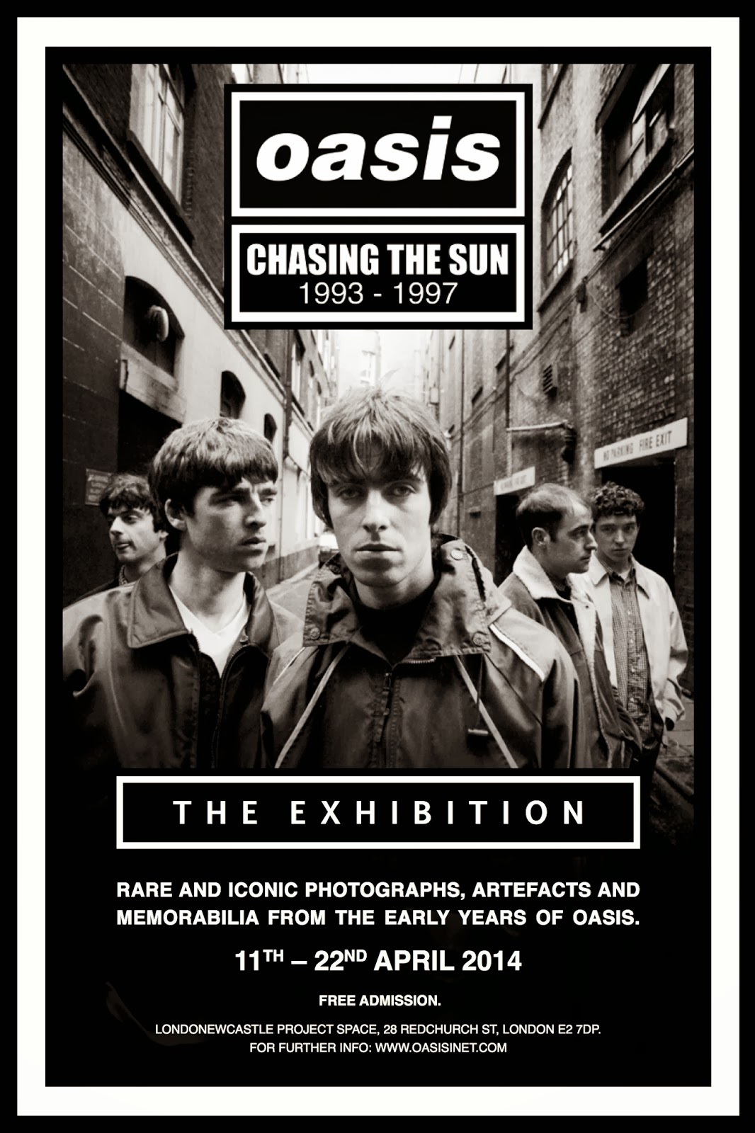 Oasis Announce Chasing The Sun Exhibition