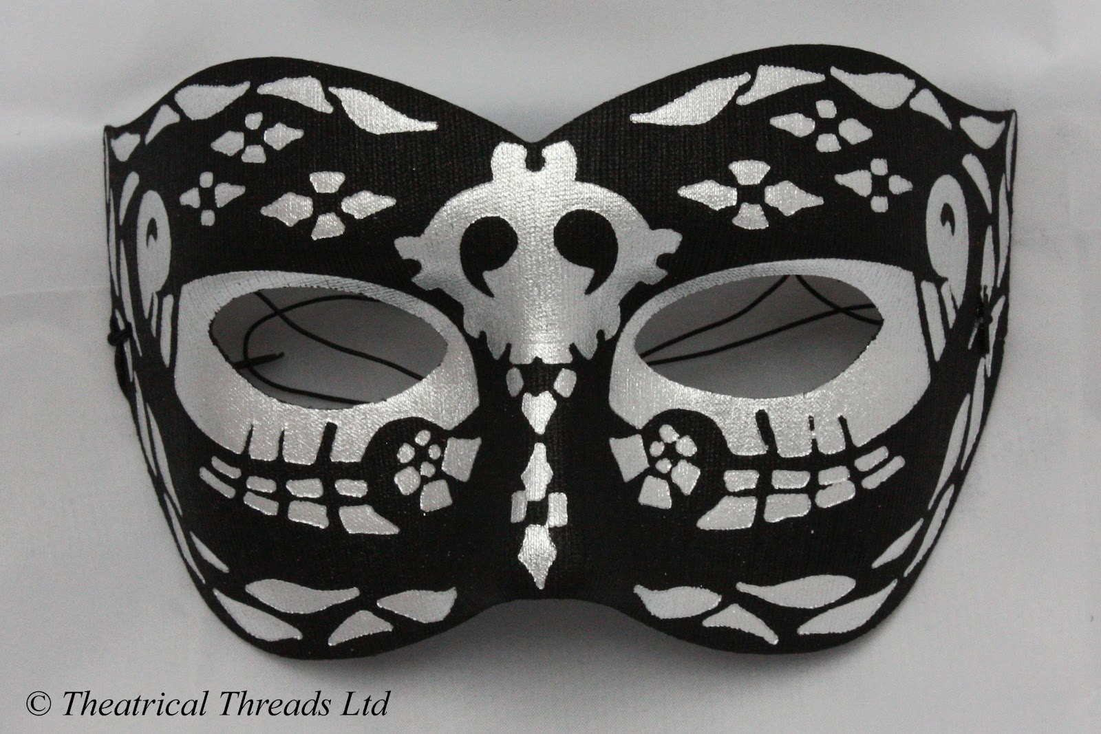 e2a07cbc4e28 Night Black & Silver Masquerade Ball Mask from Theatrical Threads Ltd
