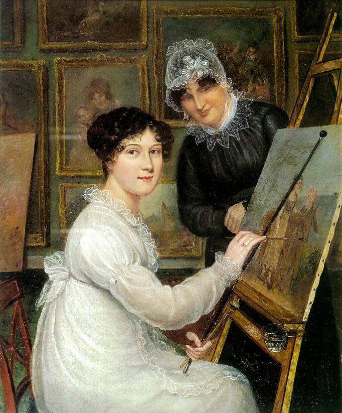 Autoportrait avec Sa Mère (1820), Rolinda Sharples