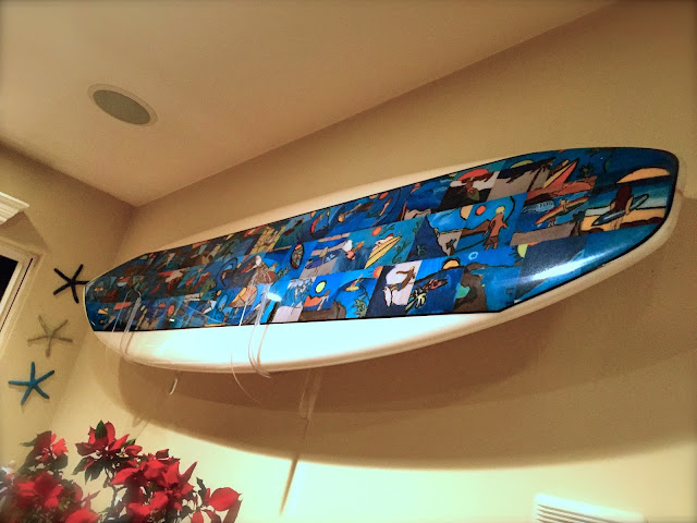 home surfboard wall art