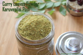 Karuvepilai Podi | Curry Leaves Powder