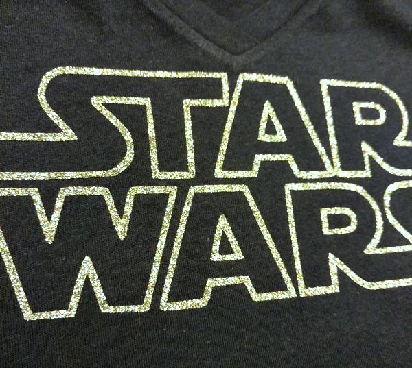Glitter Star Wars Shirt - Crafting in the Rain