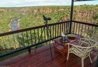 The view from a room at Little Gorges, Victoria Falls, Zimbabwe
